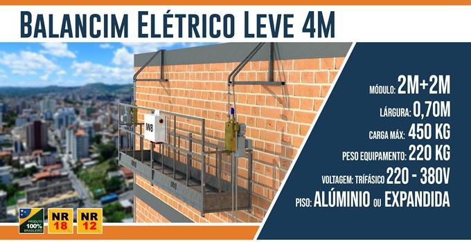 Balancim Elétrico Leve 4M
